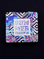 Зеркальце Summer квадратное карманное косметическое 60х60мм. 057514