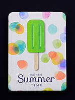 Зеркальце Summer белое карманное косметическое 85х60мм. 058093
