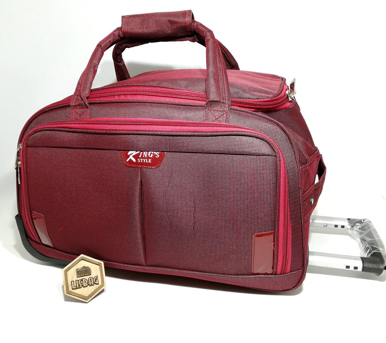 f80716522ee4 Большая сумка на колесах ХL (80 л) Бордовая (64*39*32) Чемодан ...