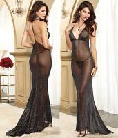 Эротическое прозрачное платье, искрящееся платье для ролевых игр, длинный пеньюар, 805