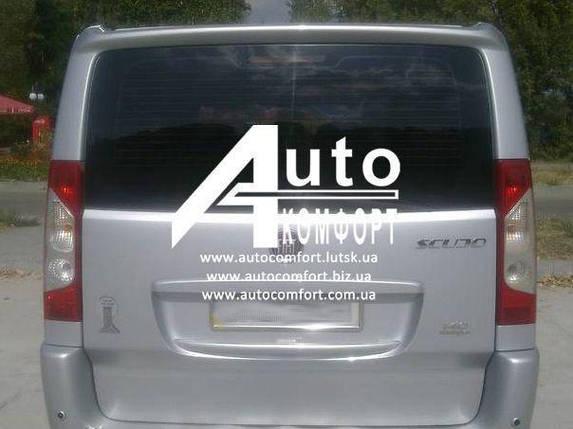 Заднее стекло ляда без э. о. с отверстием на Fiat Scudo, Peugeot Expert, Citroen Jumpy 07- (Скудо, Эксперт, Дж, фото 2