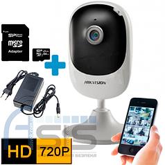 IP комплект видеонаблюдения Hikvision на 1 камеру 720P