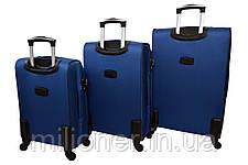 Чемодан Bonro Tourist 4 колеса набор 3 штуки синий, фото 2