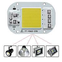 Белая светодиодная матрица с драйвером JT-4062-220 50Вт 4500лм 220В