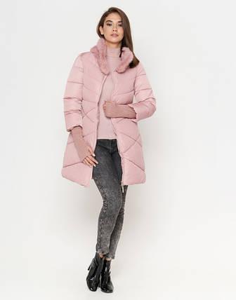 Tiger Force 2108 | Женская куртка на зиму пудра, фото 2
