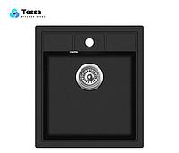Мойка кухонная  гранитная Теssa Cubo 40 black 84002