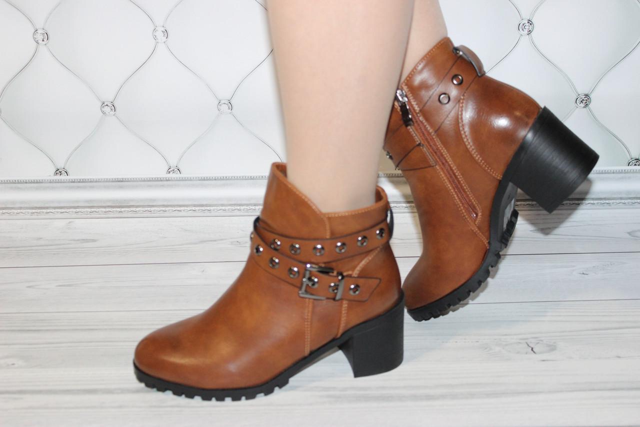 Женские ботинки коричневого цвета размер 38