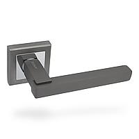 Ручка дверная на раздельном основании APECS Megapolis - Sirocco GRF (графит)