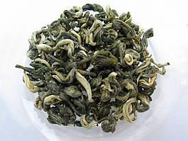 Чай зелёный слабоферментированный юнг ло (юй ло), яшмовые спиральки, тонизирующие свойства, пакет 100 / 200 г