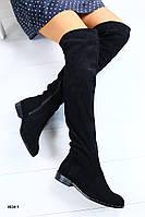 Женские ботфорты на низком ходу, фото 1