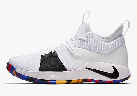 """Кроссовки Nike PG 2 NCAA """"White"""" (Белые), фото 2"""