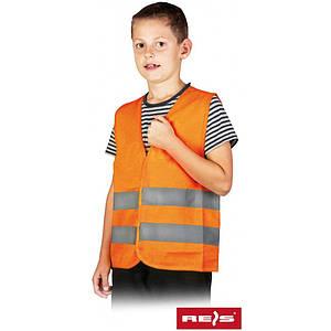 Жилет сигнальный KOS-KIDS P для детей для ребенка из 100% полиэстера, оранжевого цвета. REIS