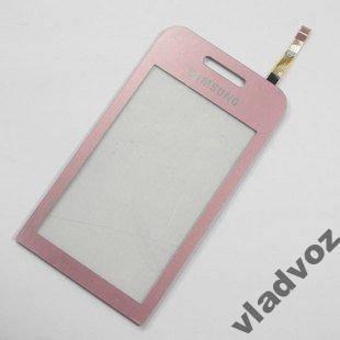 Сенсор сенсорное стекло тачскрин samsung s5230 розовый AAA, фото 2