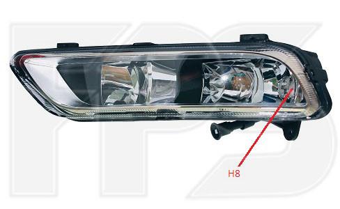 Противотуманная фара (ПТФ) VW Passat B7 '11-15 левая (DEPO)