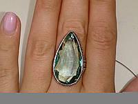 Аквамарин кольцо с аквамарином в серебре 18,5 размер Индия, фото 1