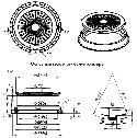 Люк смотровых колодцев полимерный круглый 3т с замком (зеленый), фото 5