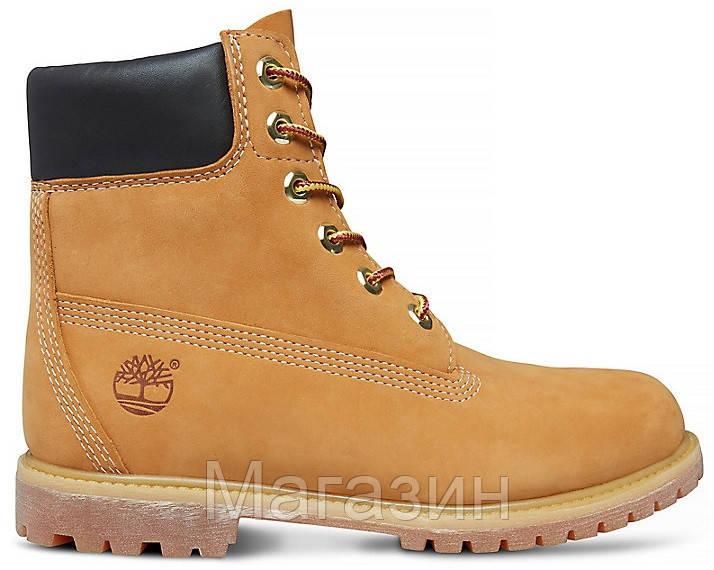 Зимние женские ботинки Timberland 6 С МЕХОМ Тимберленд зима желтые