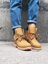Зимние женские ботинки Timberland 6 С МЕХОМ Тимберленд зима желтые, фото 3