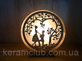 """Соляной светильник """"Влюблённая пара"""""""