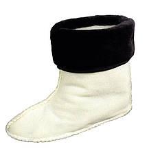 Утеплитель (вставка) меховой VR женский для сапог коротких резиновых (ботиков) т.-коричневый манжет