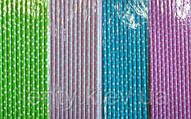Коктейльные трубочки бумажные (разноцветный мелкий горох)