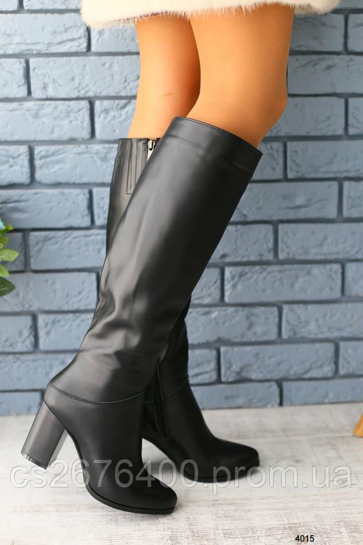 Женские сапоги на каблуке на еврозиму
