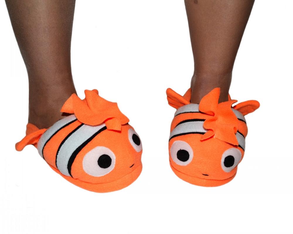 Мужские тапочки игрушки Рыбка Немо Размер 25 - 45