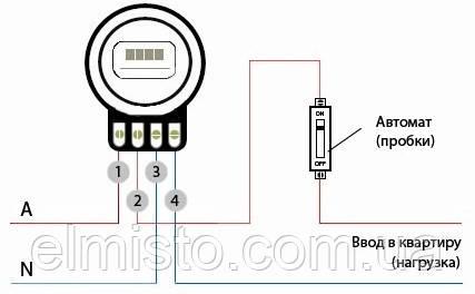 Схема подключения электросчетчика в Харькове