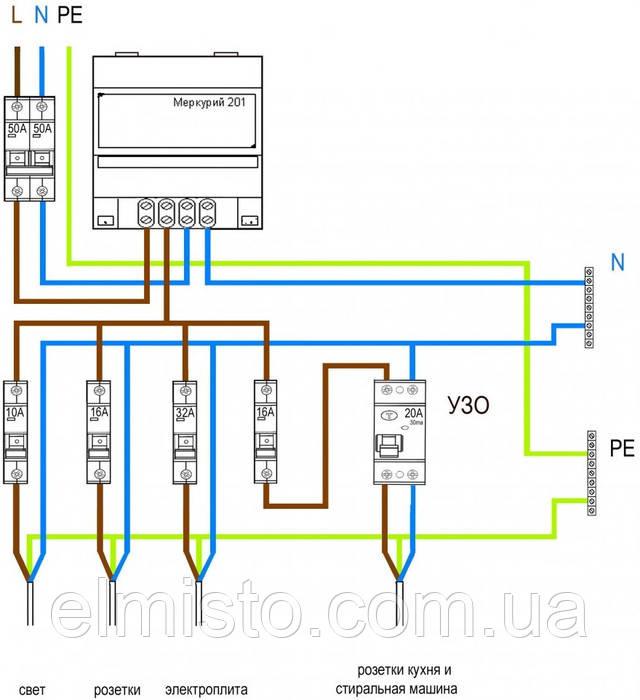 Схема подключения электросчетчика в Полтаве