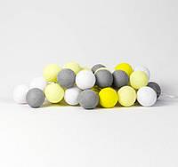 "Тайская LED-гирлянда ""Yellow-Stone"" (10 шариков) на батарейках, фото 1"