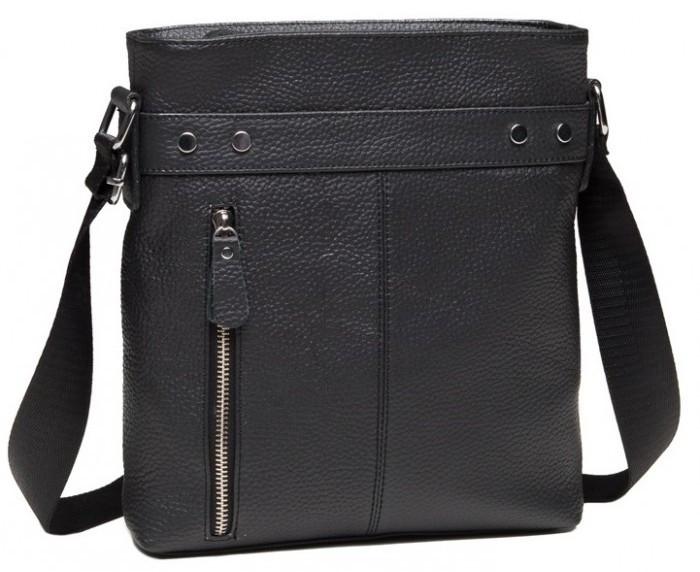 35271e3d599c Кожаный мужской мессенджер Tiding Bag A25-5502A, черный — только ...