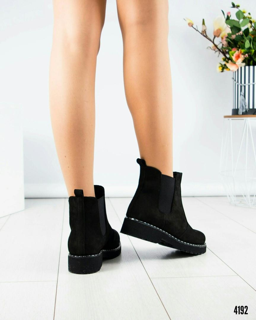 107774e2afe4 Ботинки Челси женские замша черные  продажа, цена в Каменском ...