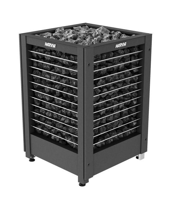 Электрическая печь для сауны Harvia MODULO MDS135GL / MD135GL steel/ черный