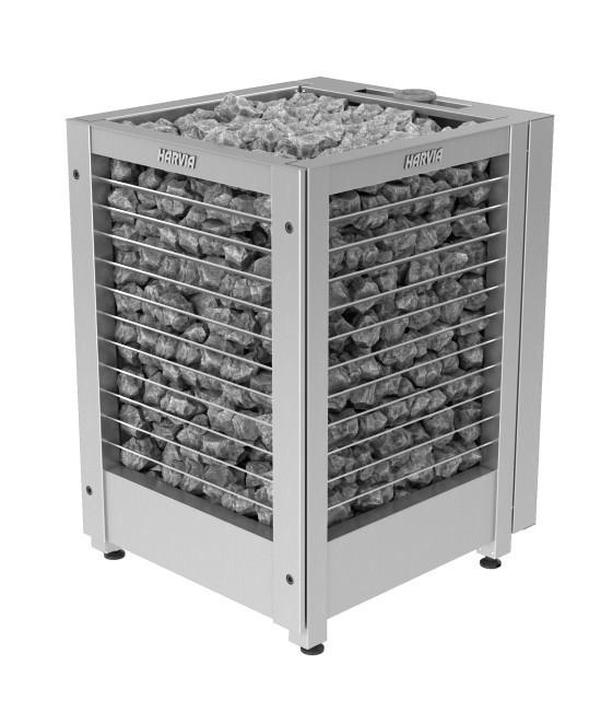 Электрическая печь для сауны Harvia COMBI  MODULO MDS180GSA / MD180GSA  steеl/ черный