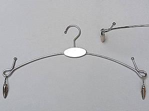 Плечики вешалки металлические для нижнего белья серебристого цвета, 28 см