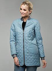 Куртка стеганая демисезонная женская ветровка (плащевка)
