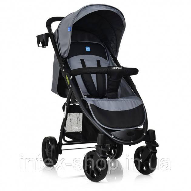 Прогулочная коляска Bambi M 3409-3-11 Черно-серая