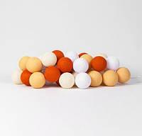 "Тайская LED-гирлянда ""Orange"" (20 шариков) на батарейках, фото 1"