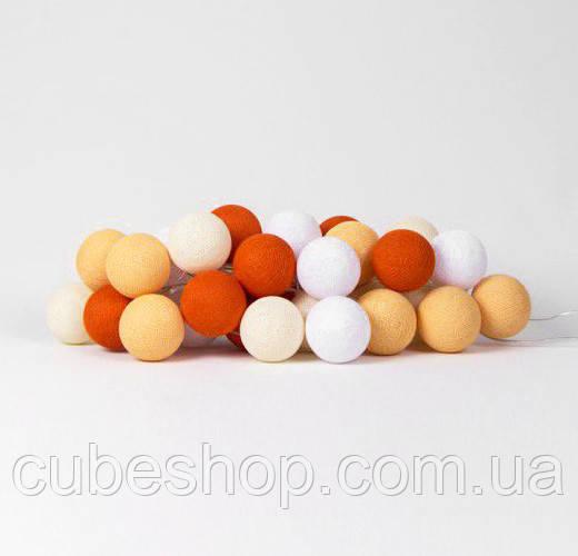 "Тайская LED-гирлянда ""Orange"" (10 шариков) на батарейках"