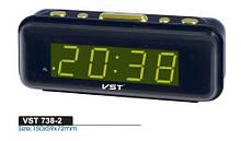 Часы в сеть VST-738-2 Зеленый