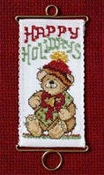 Набор для вышивки Mill Hill Happy Holidays Bear (2006)