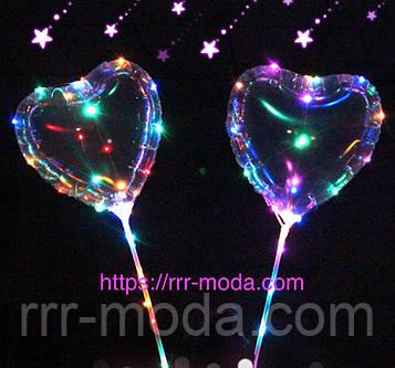 53. Led шары Бобо в виде сердец, светящиеся светодиодные шарики оптом