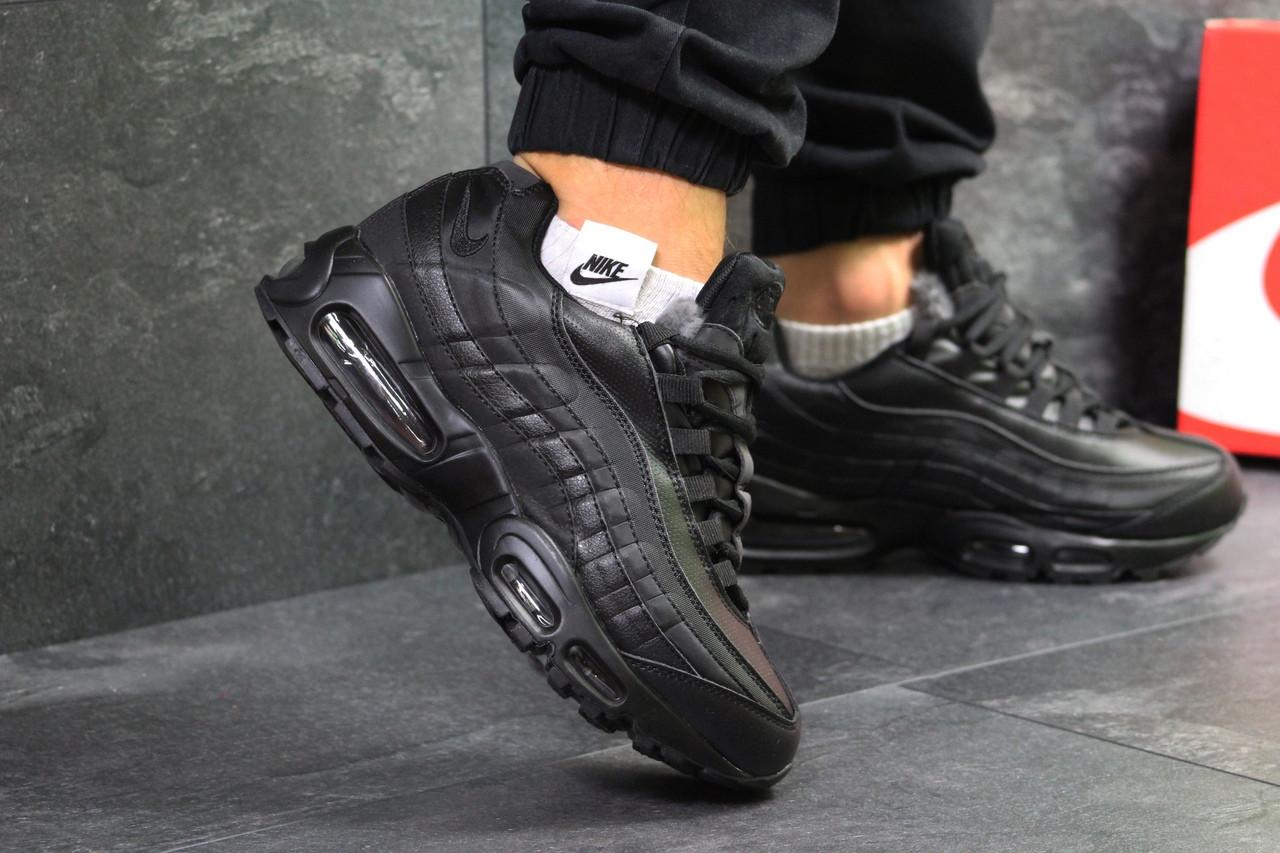 Кроссовки Мужские Зимние Nike Air Max 95 Черный — в Категории ... 2a25f521143