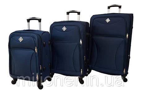 Чемодан Bonro Tourist 4 колеса набор 3 штуки темно-синий, фото 2
