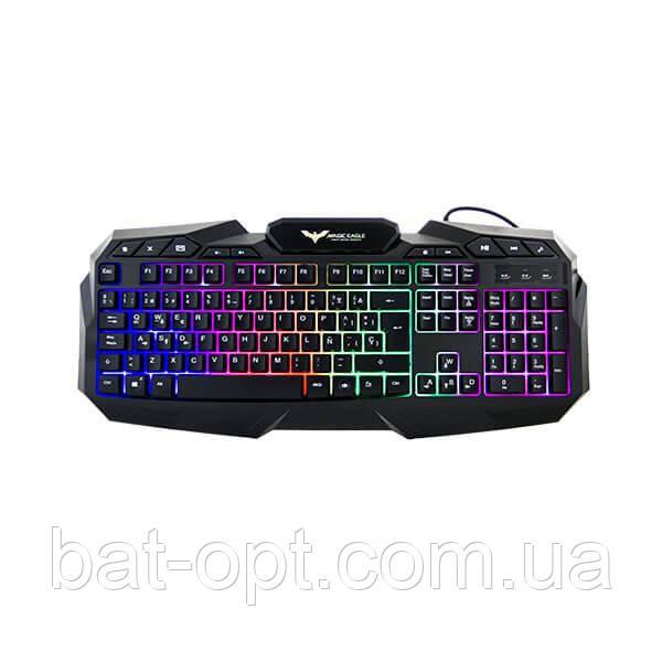 Клавиатура проводная игровая HV-KB406L GAMING USB с подсветкой