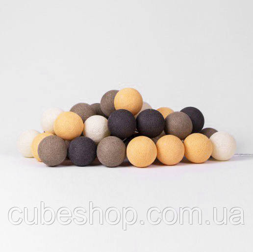 """Тайская гирлянда """"Clay"""" (20 шариков) линия"""
