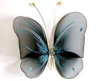 Декоративная бабочка для штор и тюлей большая черная