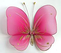 Бабочка большая розовая, декоративные украшения для гардин