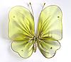 Декоративная бабочка для штор и тюлей большая полосатая желтая