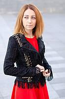 Женский твидовый жакет с бахромой Chanel